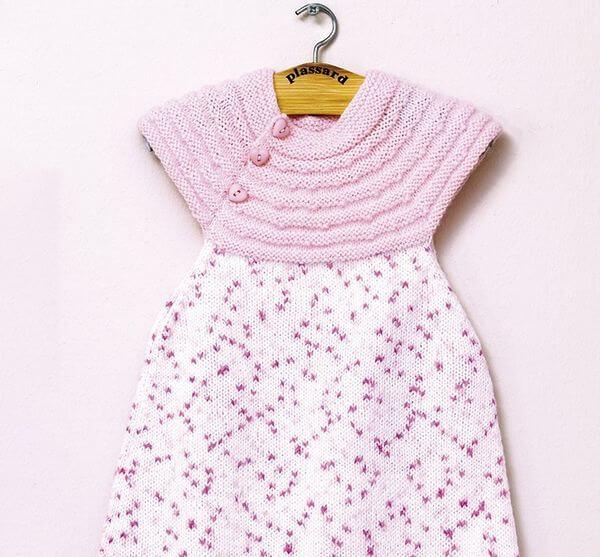 robe bébé en laine imprimée PLassard