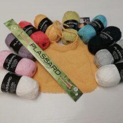Kit tricot bavoir pour bébé
