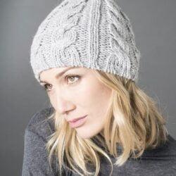 Bonnet tricoté en Trappeur