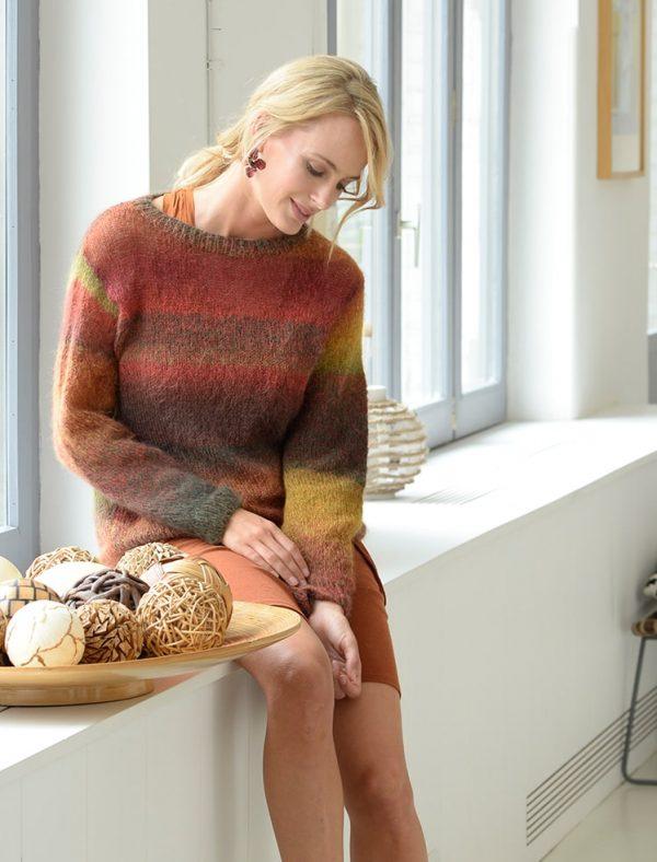 pull tricoté avec la laine algasoie Plassard